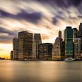 Manhattan Sunset Bursting by Alissa Beth Photography