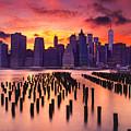 Manhattan Sunset by Rima Biswas