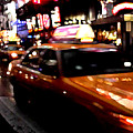 Manhattan Taxis by Jose Roldan Rendon