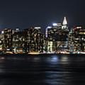 Manhattan At Night by Theodore Jones