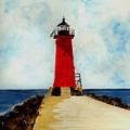 Manistique Breakwater Lighthouse by Michael Vigliotti