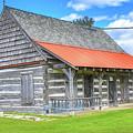 Manistique Schoolcraft County Museum Log Cabin -2158 by Norris Seward