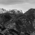 Manitou Incline And East Face Of Pikes Peak by Steve Krull