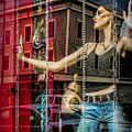 Mannequin In Storefront Window Display With No Escape by Randall Nyhof