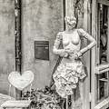 Mannequin On The Street Bw by Lisa Lemmons-Powers