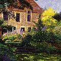 Manor House Steps by David Lloyd Glover