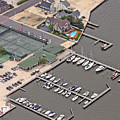 Mantoloking Yacht Club Mantoloking New Jersey II by Duncan Pearson