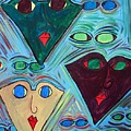 Many Faces Blue by Margie  Byrne