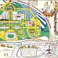 Map British Empire Exhibition Wembley Park London 1924 by Nigel Radcliffe