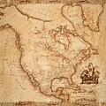 Map Of America 1800 by Andrew Fare