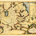 Map Of Africa 1690 by Andrew Fare