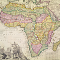 Map of Africa by Pieter Schenk