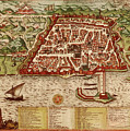 Map Of Algiers 1541 by Andrew Fare