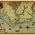 Map Of America 1590 by Andrew Fare