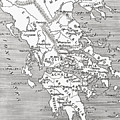 Map Of Ancient Greece by English School