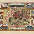 Map Of Antwerp 1675 by Andrew Fare