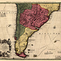 Map Of Argentina 1700 by Andrew Fare