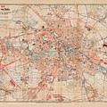 Map Of Berlin 1895 by Andrew Fare