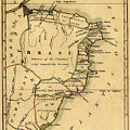 Map Of Brazil 1808 by Andrew Fare