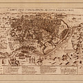 Map Of Cairo 1600 by Andrew Fare