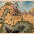 Map Of Cape Town 1947 by Andrew Fare