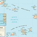 Map Of Cape Verde by Roy Pedersen