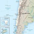 Map Of Chile 2  by Roy Pedersen