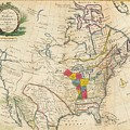 Map Of Colonial North America  by Jonathan Carver