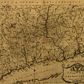 Map Of Connecticut 1797 by Andrew Fare