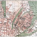 Map Of Copenhagen 1888 by Mountain Dreams
