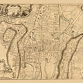 Map Of Cork 1771 by Andrew Fare