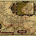 Map Of Cremona 1579 by Andrew Fare