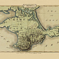 Map Of Crimea 1815 by Andrew Fare