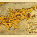 Map Of Cyprus 1562 by Andrew Fare