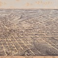 Map Of Dallas 1872 by Mountain Dreams