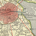 Map Of Dublin by Irish School