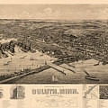 Map Of Duluth 1893 by Andrew Fare