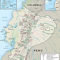 Map Of Ecuador 2 by Roy Pedersen