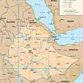 Map Of Ethiopia by Roy Pedersen
