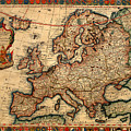 Map Of Europe 1700 by Andrew Fare