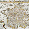 Map Of France, 1627 by Granger