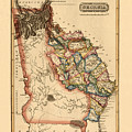 Map Of Georgia 1817 by Andrew Fare