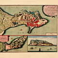 Map Of Gibraltar 1706 by Andrew Fare