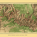 Map Of Grand Canyon 1926 by Andrew Fare