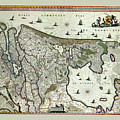 Map Of Holland 1682 by Andrew Fare
