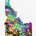 Map Of Idaho-colorful by Erzebet S
