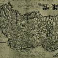 Map Of Ireland 1771 by Andrew Fare