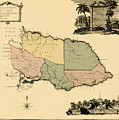 Map Of Jamaica 1763 by Andrew Fare
