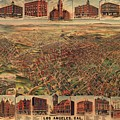 Map Of Los Angeles 1891 by Mountain Dreams
