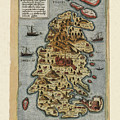 Map Of Malta 1565 by Andrew Fare